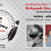 Poesia e Música à Mesa: Frédéric da Cruz & Duo de flauta e guitarra